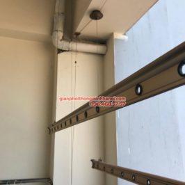 Sửa chữa giàn phơi tại Cầu giấy nhà chị Hiên, chung cư N07 Dịch Vọng