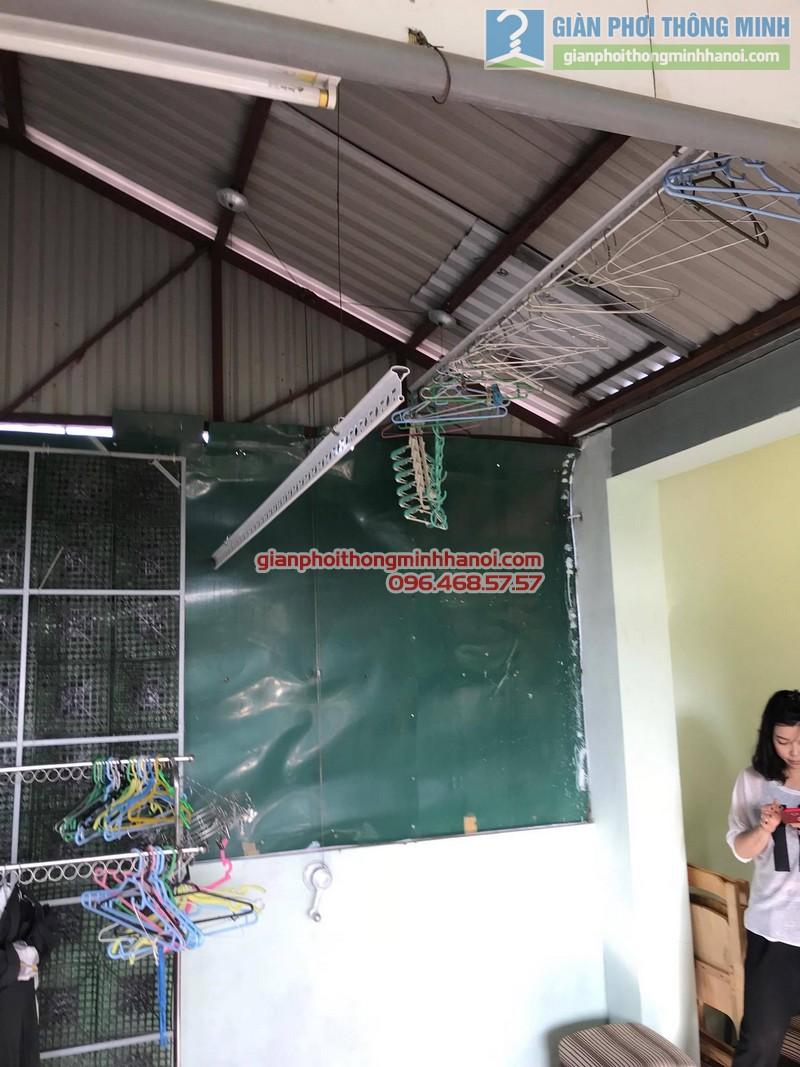 Lắp đặt giàn phơi thông minh tại Đống Đa nhà cô Liên, ngõ 151 Thái Hà - 06