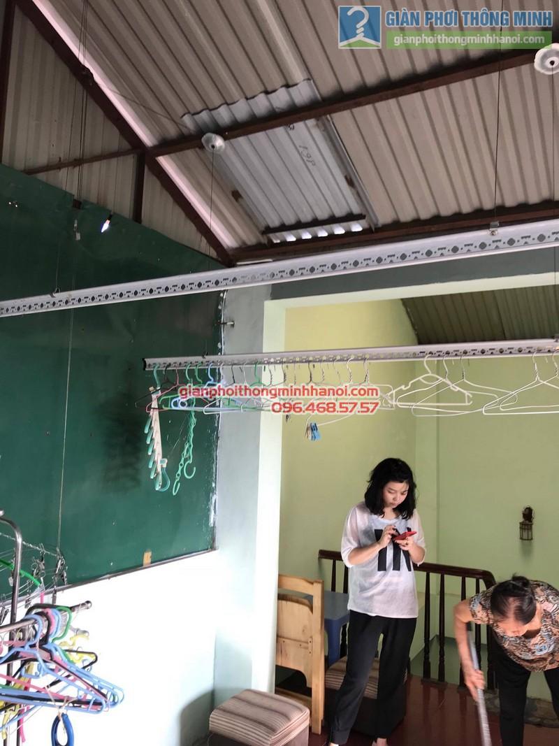 Lắp đặt giàn phơi thông minh tại Đống Đa nhà cô Liên, ngõ 151 Thái Hà - 07