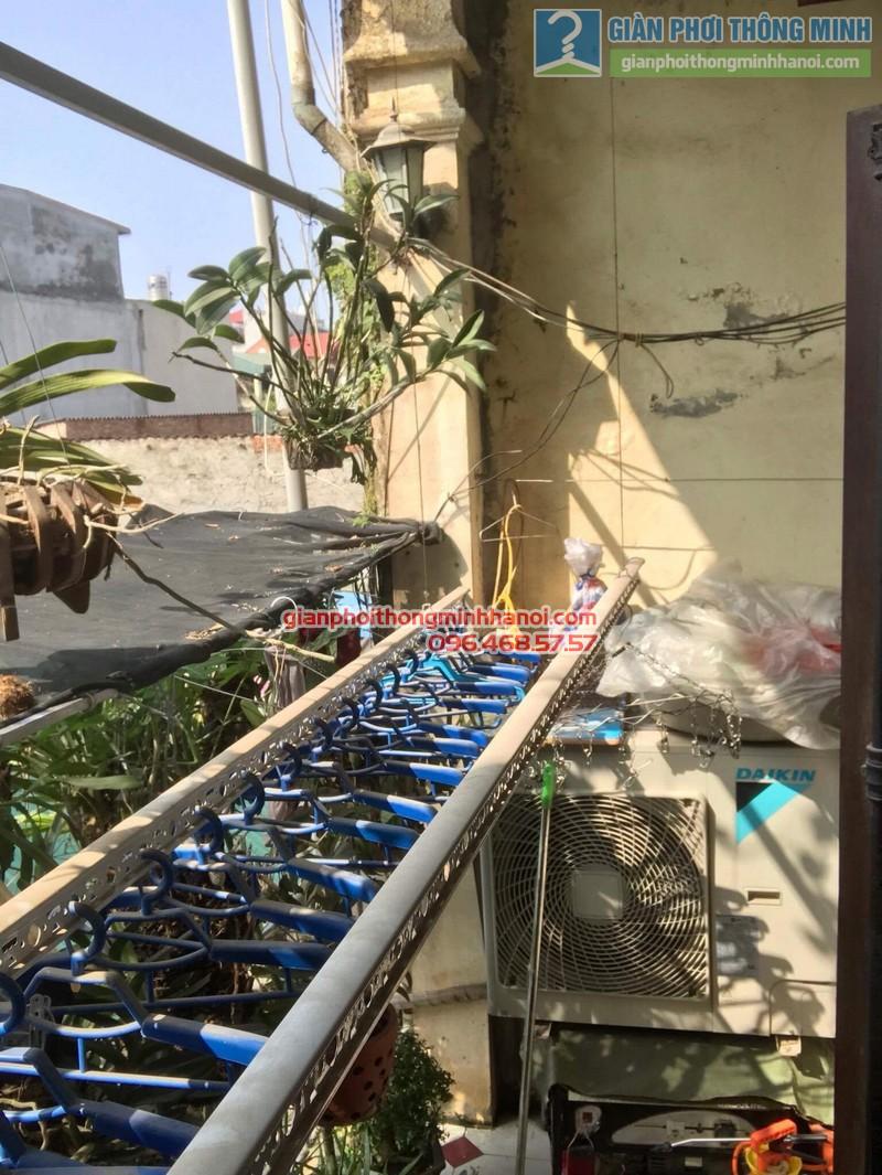 Lắp giàn phơi Thanh Trì nhà chị Bình, ngách 22, ngõ 5 Tân Triều- 04