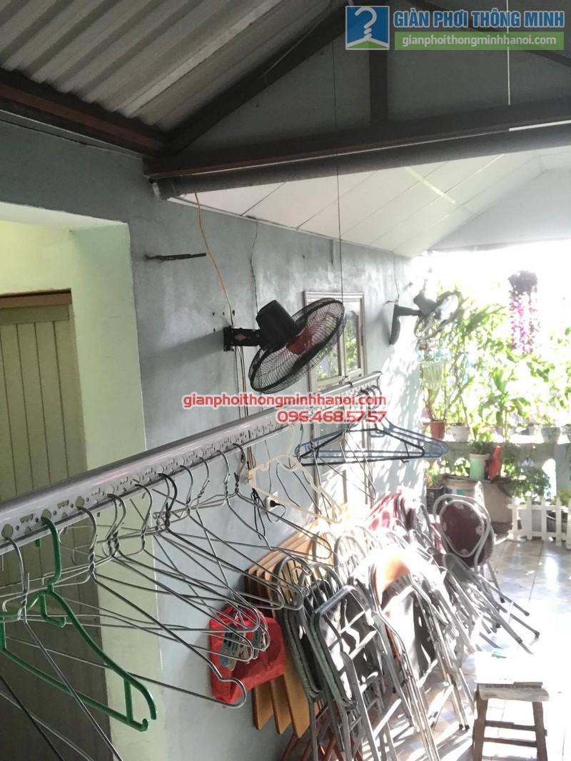 Lắp đặt giàn phơi thông minh tại Đống Đa nhà cô Liên, ngõ 151 Thái Hà - 08