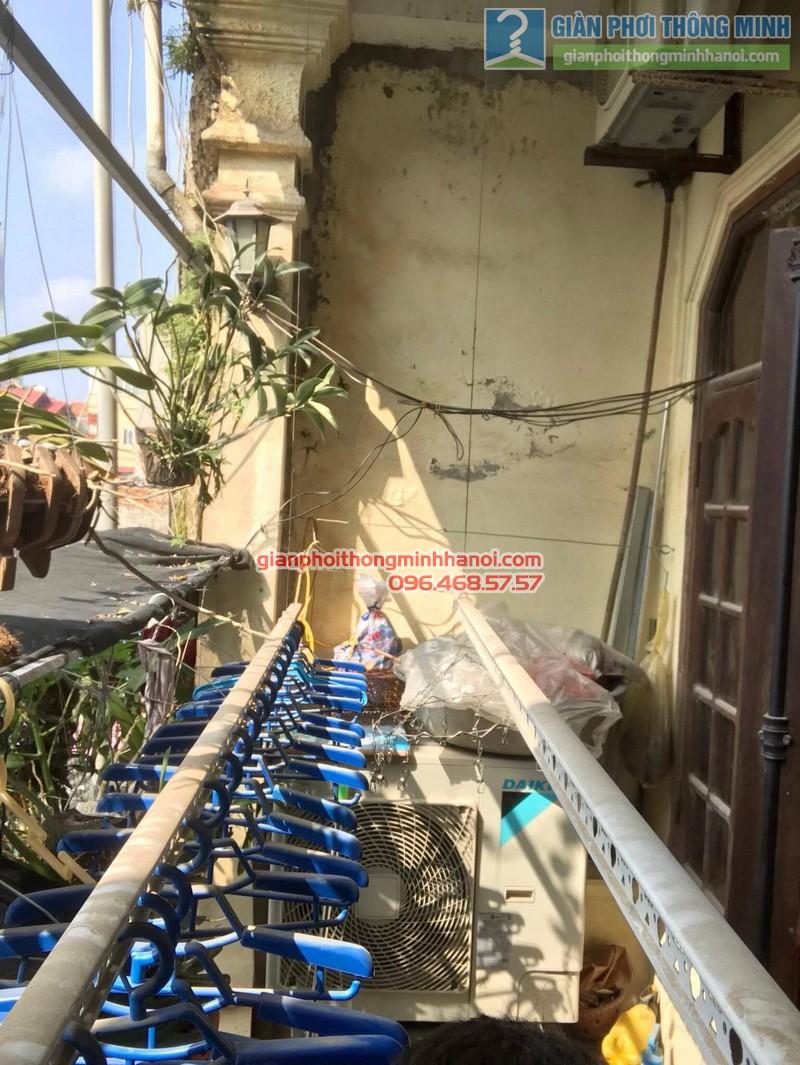 Lắp giàn phơi Thanh Trì nhà chị Bình, ngách 22, ngõ 5 Tân Triều- 05