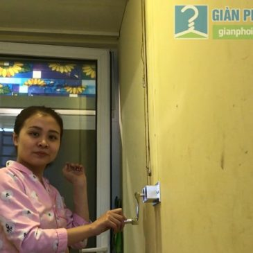 Lắp giàn phơi 999B nhà chị Mai, tòa B2 chung cư Hòa Bình Green, 505 Minh Khai, Hai Bà Trưng, Hà Nội