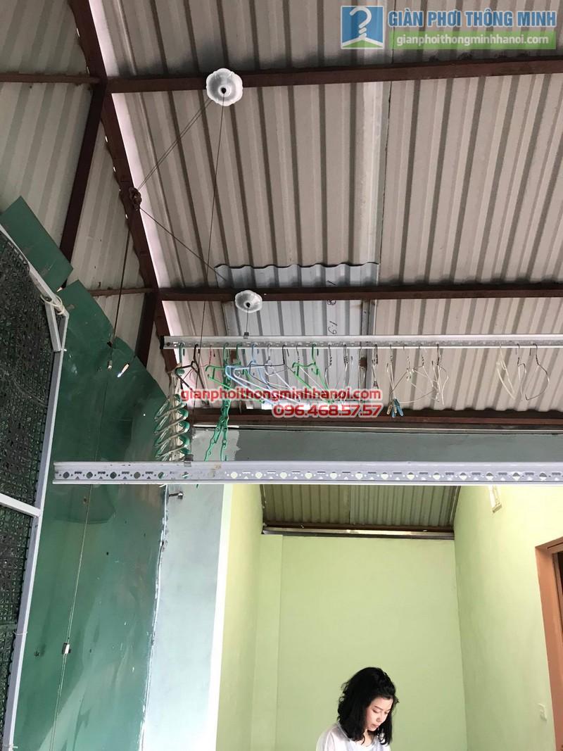 Lắp đặt giàn phơi thông minh tại Đống Đa nhà cô Liên, ngõ 151 Thái Hà - 09