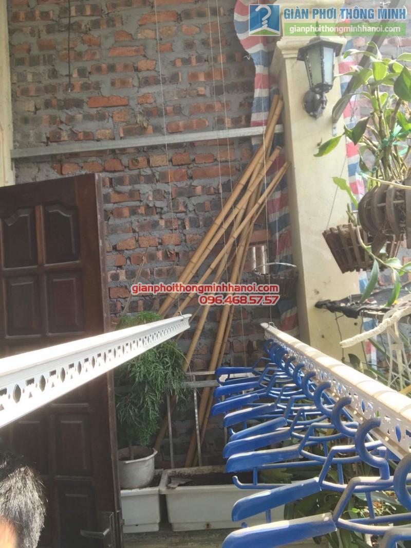 Lắp giàn phơi Thanh Trì nhà chị Bình, ngách 22, ngõ 5 Tân Triều- 06