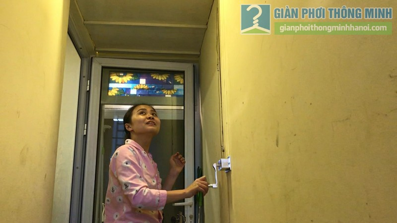 Lắp giàn phơi 999B nhà chị Mai, chung cư Hòa Bình Green, 505 Minh Khai, Hai Bà Trưng, Hà Nội - 03