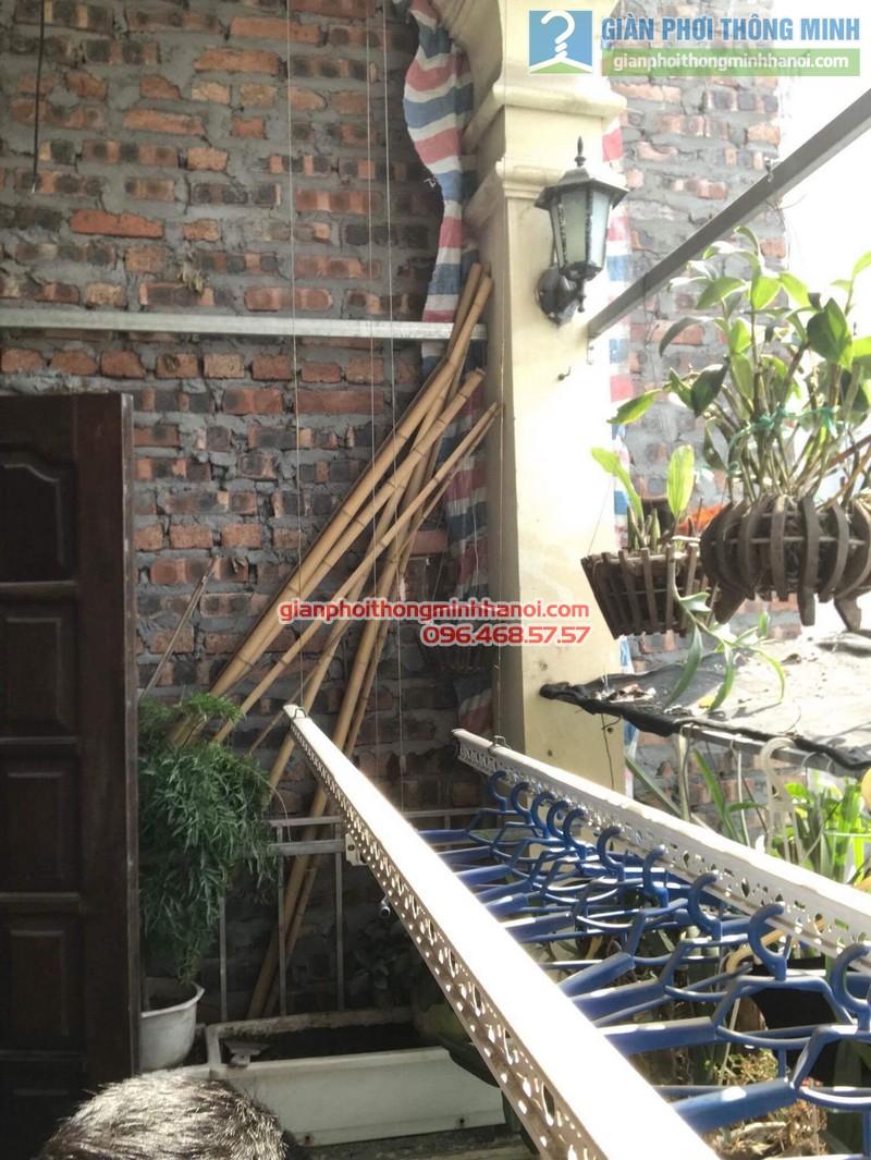 Lắp giàn phơi Thanh Trì nhà chị Bình, ngách 22, ngõ 5 Tân Triều- 07