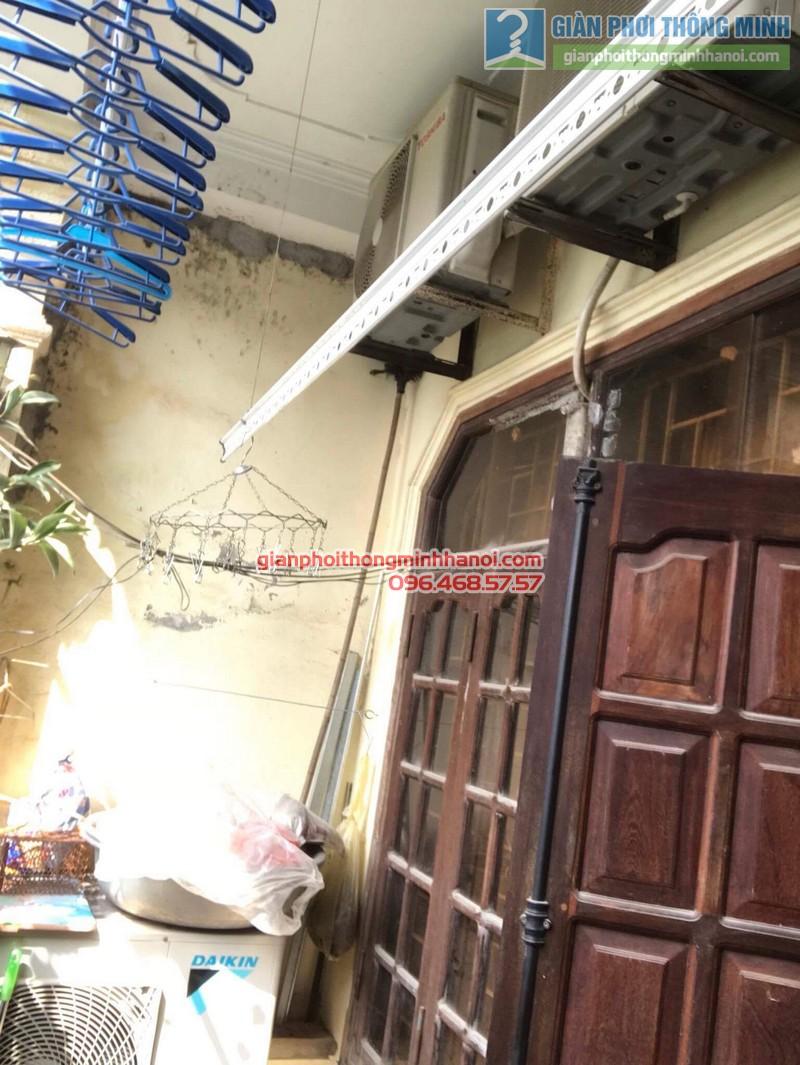 Lắp giàn phơi Thanh Trì nhà chị Bình, ngách 22, ngõ 5 Tân Triều- 08