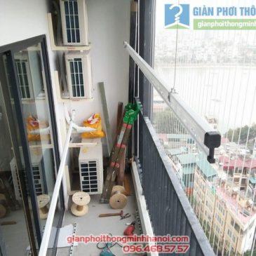 Lắp giàn phơi và lưới an toàn nhà chị Phương, tòa G2 chung cư Five Star số 2 Kim Giang Thanh Xuân, Hà Nội