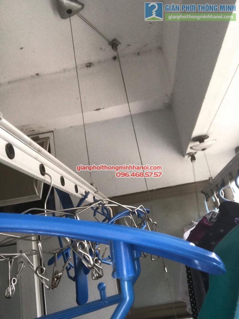 Thay dây cáp giàn phơi thông minh nhà chị Khôi, chung cư Ct5. KĐT Xala Hà Đông - 01