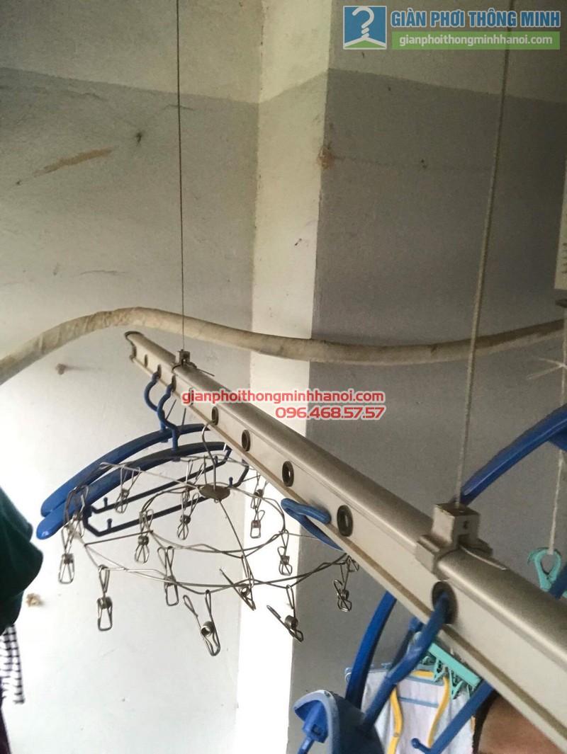Thay dây cáp giàn phơi thông minh nhà chị Khôi, chung cư Ct5. KĐT Xala Hà Đông - 05