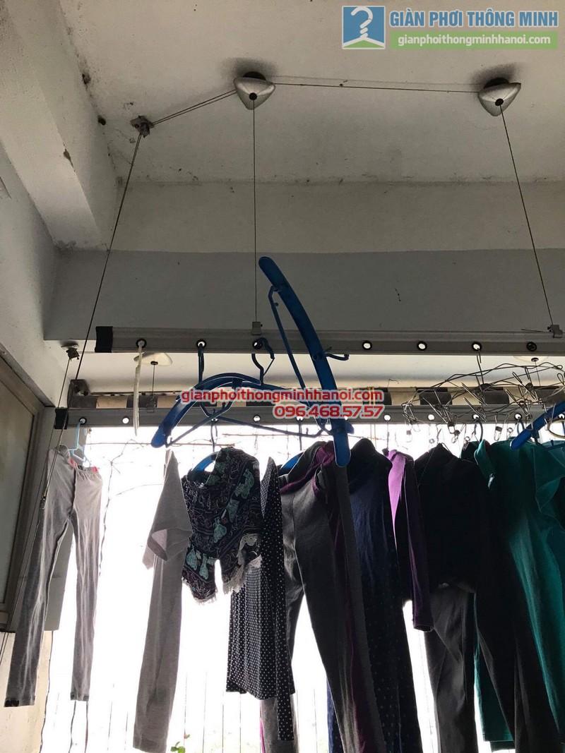 Thay dây cáp giàn phơi thông minh nhà chị Khôi, chung cư Ct5. KĐT Xala Hà Đông - 06