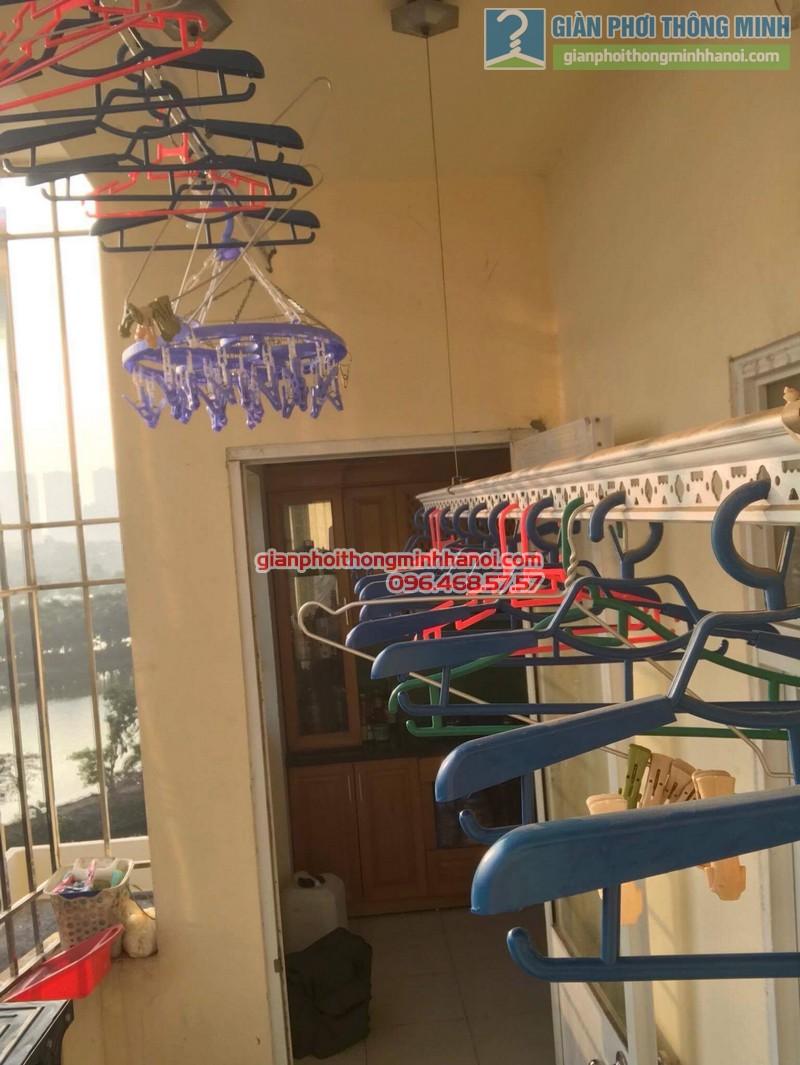 Sửa giàn phơi thông minh nhà anh Dũng, chung cư Riverside Tower, Hoàng Mai, Hà Nội - 05