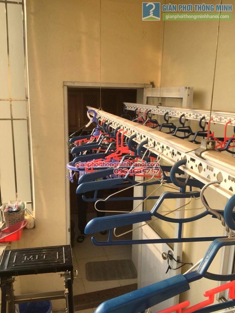 Sửa giàn phơi thông minh nhà anh Dũng, chung cư Riverside Tower, Hoàng Mai, Hà Nội - 08