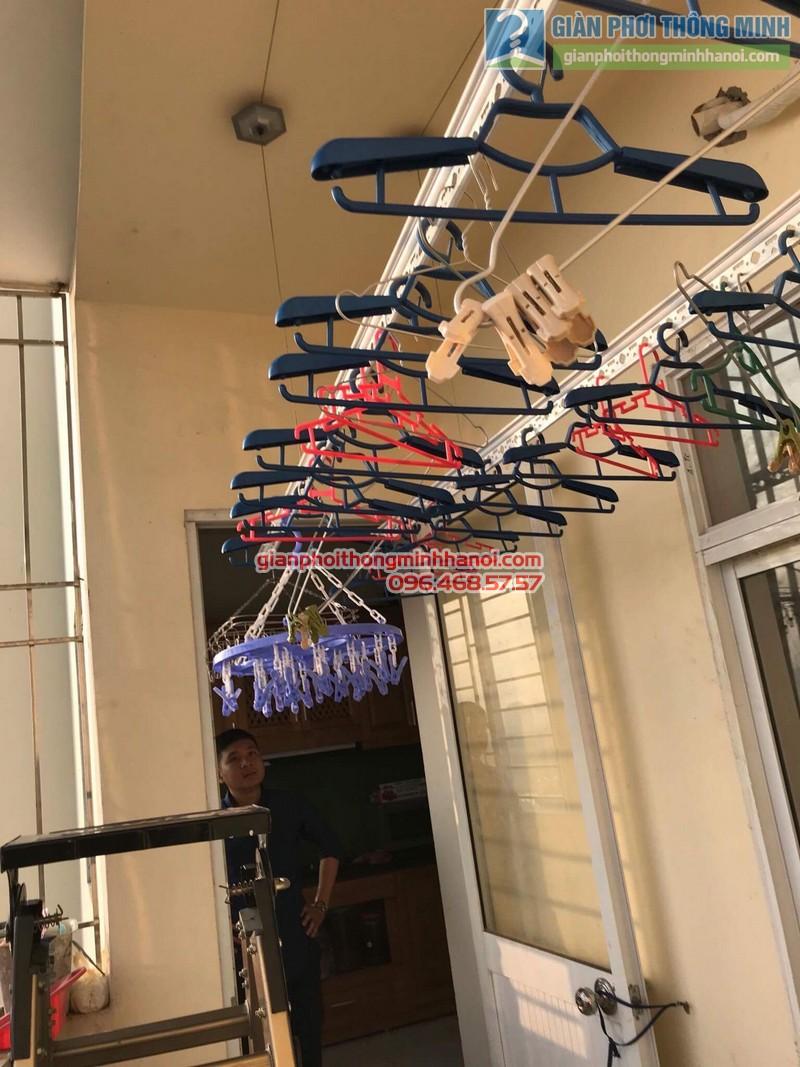 Sửa giàn phơi thông minh nhà anh Dũng, chung cư Riverside Tower, Hoàng Mai, Hà Nội - 09