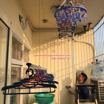 Sửa giàn phơi thông minh nhà anh Dũng, chung cư Riverside Tower, Hoàng Mai, Hà Nội