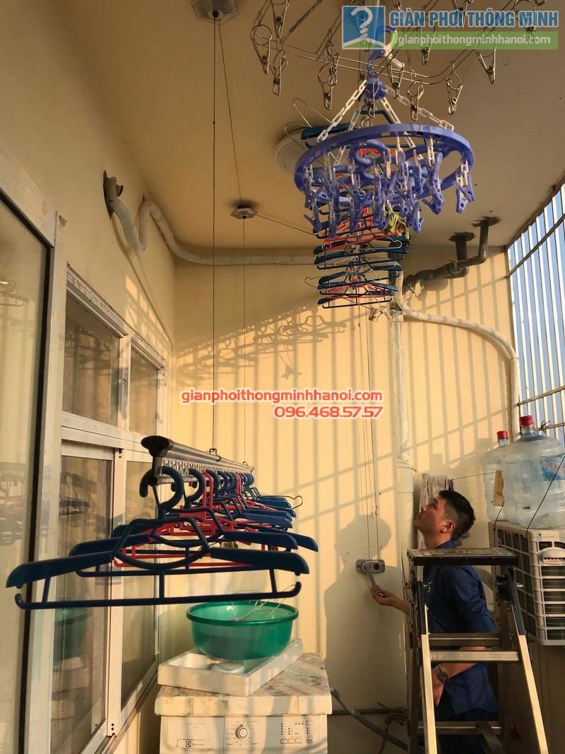 Sửa giàn phơi thông minh nhà anh Dũng, chung cư Riverside Tower, Hoàng Mai, Hà Nội - 11