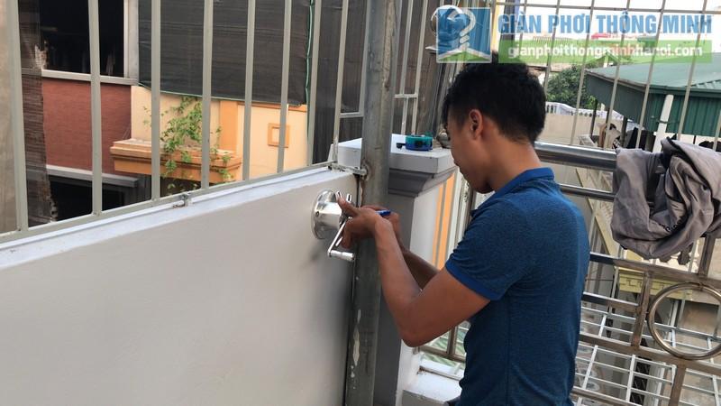 Lắp giàn phơi Hòa phát Air gp701 nhà anh Vinh, Phú Đô, Nam Từ Liêm, Hà Nội - 04