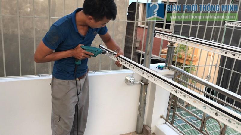 Lắp giàn phơi Hòa phát Air gp701 nhà anh Vinh, Phú Đô, Nam Từ Liêm, Hà Nội - 07