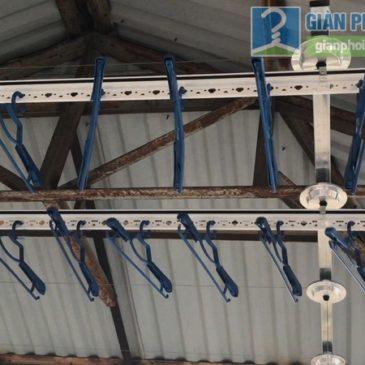 Lắp giàn phơi trần mái tôn nhà anh Vinh, ngõ 164 Phú Đô, Nam Từ Liêm, Hà Nội