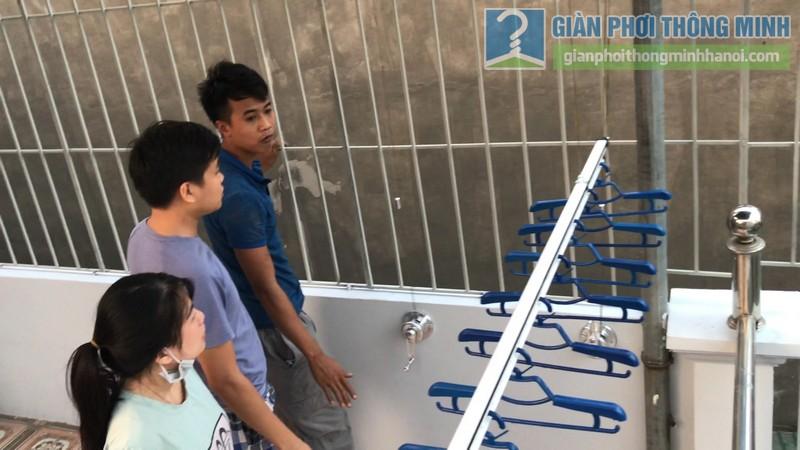 Lắp giàn phơi Hòa phát Air gp701 nhà anh Vinh, Phú Đô, Nam Từ Liêm, Hà Nội - 12