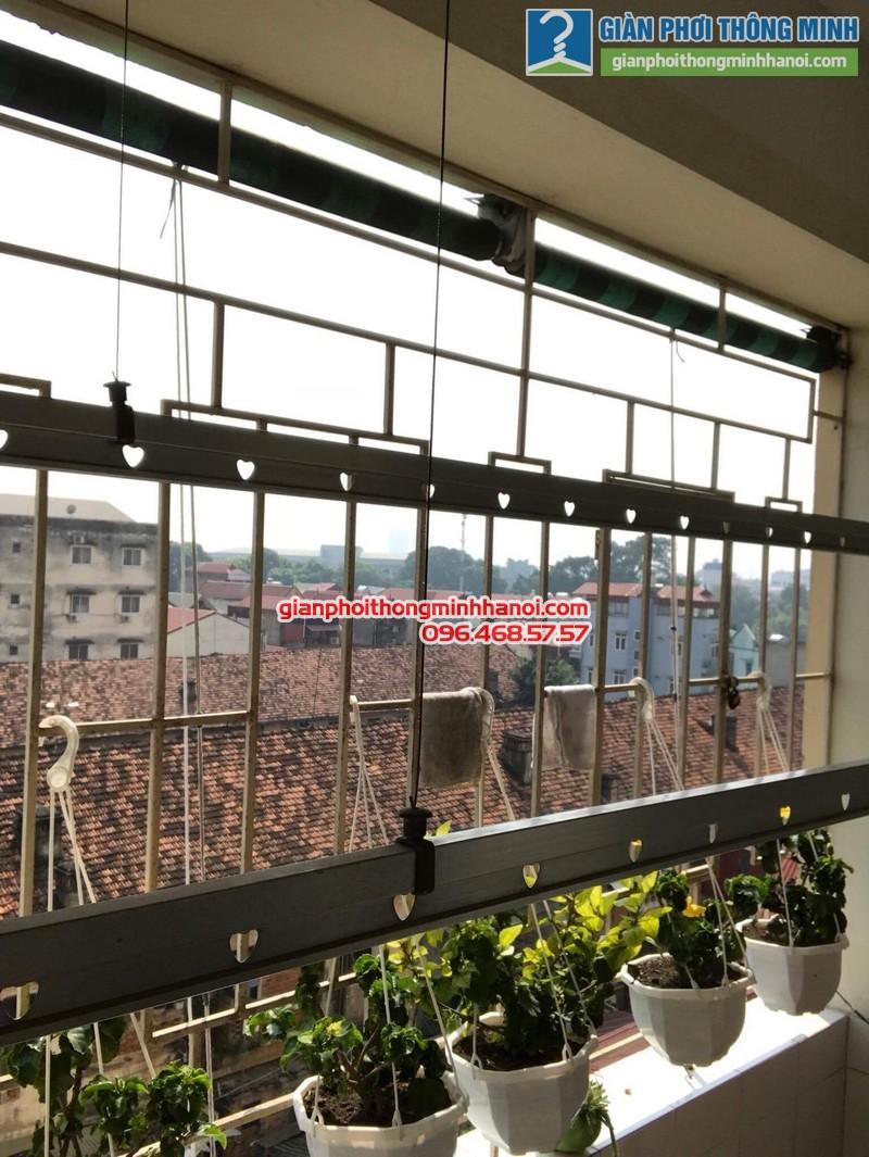 Sửa giàn phơi thông minh tại Hà Đông nhà cô Lựu, chung cư CT4 KĐT Xala - 01