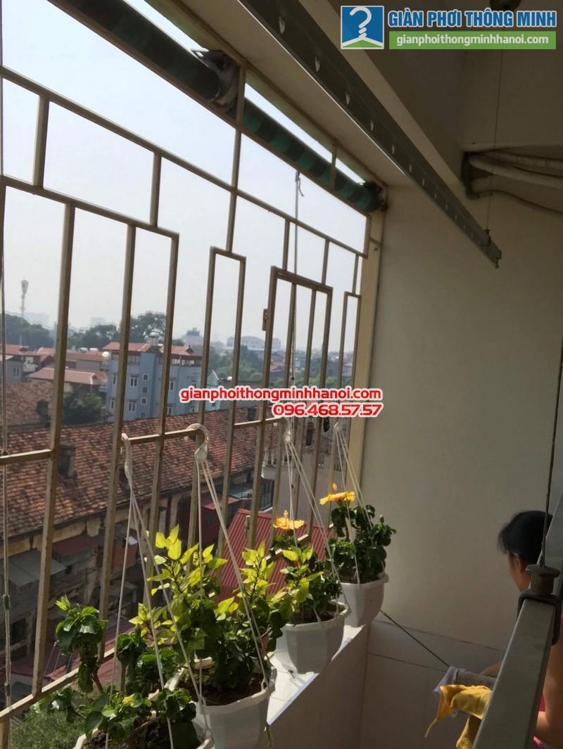 Sửa giàn phơi thông minh tại Hà Đông nhà cô Lựu, chung cư CT4 KĐT Xala - 02