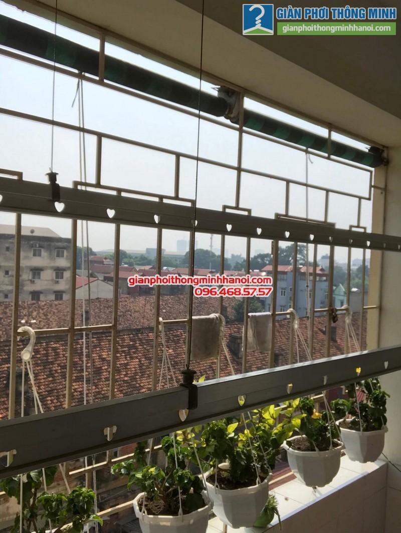 Sửa giàn phơi thông minh tại Hà Đông nhà cô Lựu, chung cư CT4 KĐT Xala - 05