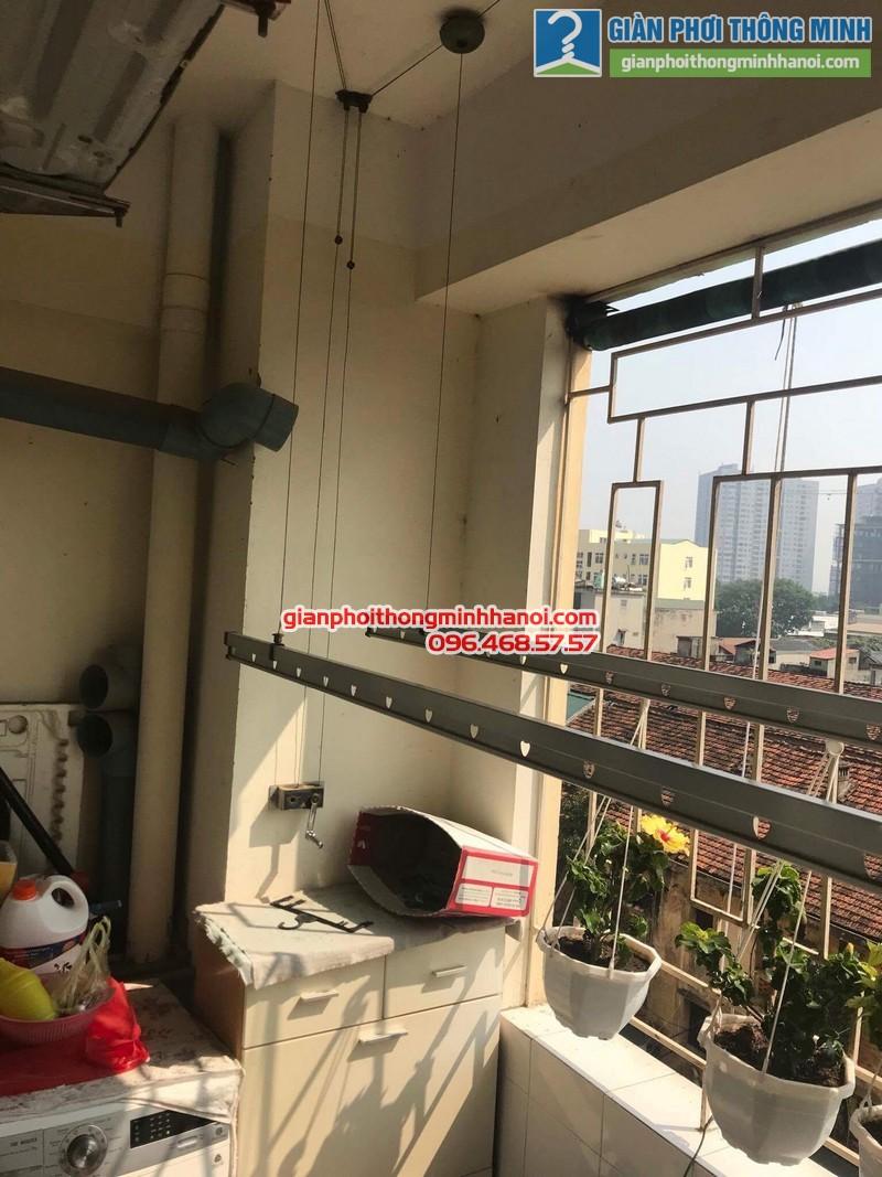 Sửa giàn phơi thông minh tại Hà Đông nhà cô Lựu, chung cư CT4 KĐT Xala - 06