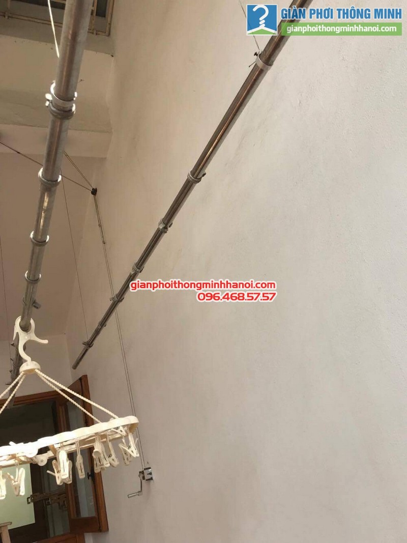 Sửa giàn phơi thông minh nhà chị Thành, ngách 57, ngõ 332E, Lê Trọng Tấn, Thanh Xuân, Hà Nội - 01
