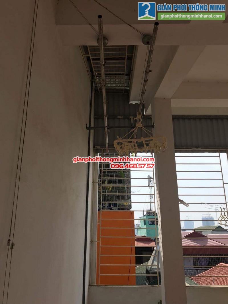 Sửa giàn phơi thông minh nhà chị Thành, ngách 57, ngõ 332E, Lê Trọng Tấn, Thanh Xuân, Hà Nội - 08