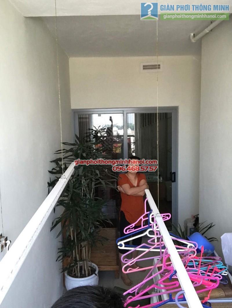 Lắp giàn phơi thông minh nhà chị Vân, chung cư Chelsea park 116 Trung Kính, Cầu giấy, Hà Nội - 03