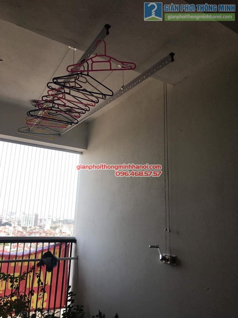 Lắp giàn phơi thông minh nhà chị Vân, chung cư Chelsea park 116 Trung Kính, Cầu giấy, Hà Nội - 05