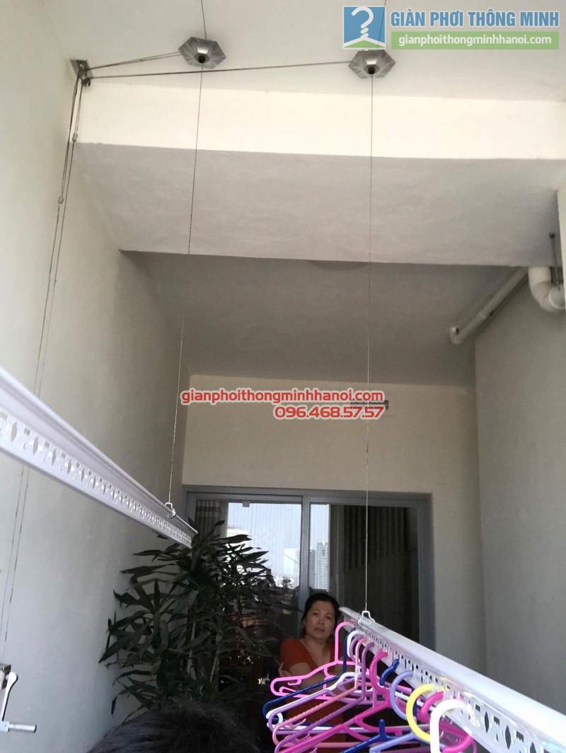 Lắp giàn phơi thông minh nhà chị Vân, chung cư Chelsea park 116 Trung Kính, Cầu giấy, Hà Nội - 06