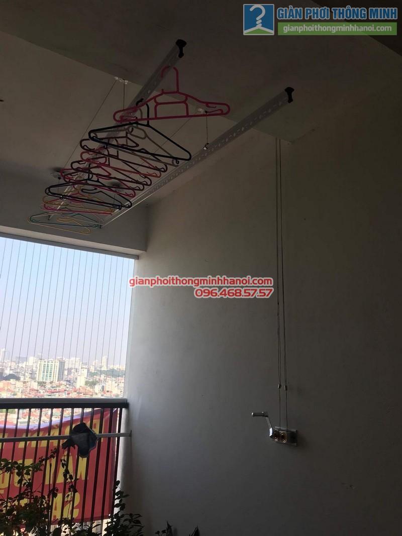 Lắp giàn phơi thông minh nhà chị Vân, chung cư Chelsea park 116 Trung Kính, Cầu giấy, Hà Nội - 07