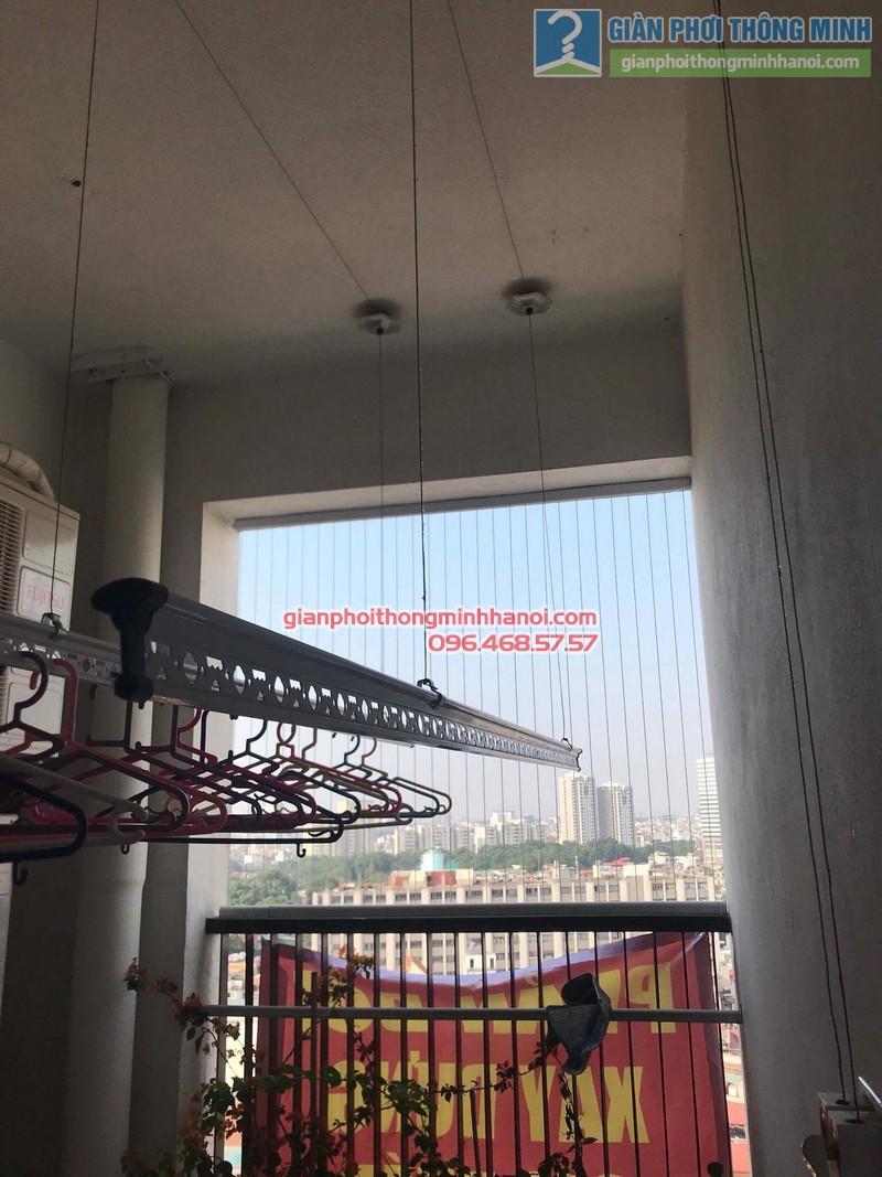Lắp giàn phơi thông minh nhà chị Vân, chung cư Chelsea park 116 Trung Kính, Cầu giấy, Hà Nội - 08