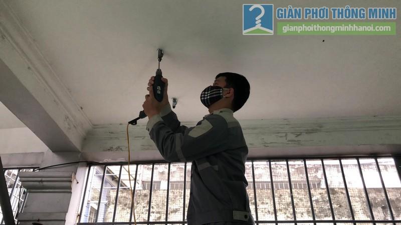 Lắp giàn phơi điện tự động nhà chị Hậu, Cầu giấy, Hà Nội - 01