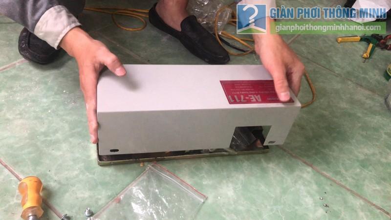 Lắp giàn phơi điện tự động nhà chị Hậu, Cầu giấy, Hà Nội - 03