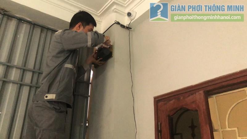 Lắp giàn phơi điện tự động nhà chị Hậu, Cầu giấy, Hà Nội - 05