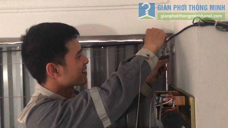Lắp giàn phơi điện tự động nhà chị Hậu, Cầu giấy, Hà Nội - 06