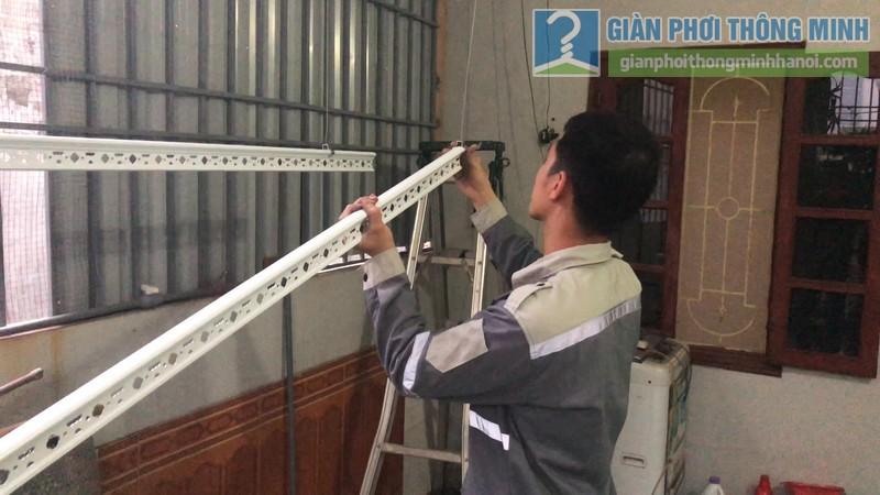 Lắp giàn phơi điện tự động nhà chị Hậu, Cầu giấy, Hà Nội - 07