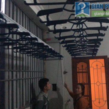 Lắp giàn phơi tự động Vinadry AE711 nhà chị Hậu, Đường Cốm Vòng, P. Dịch Vọng, Cầu Giấy, Hà Nội