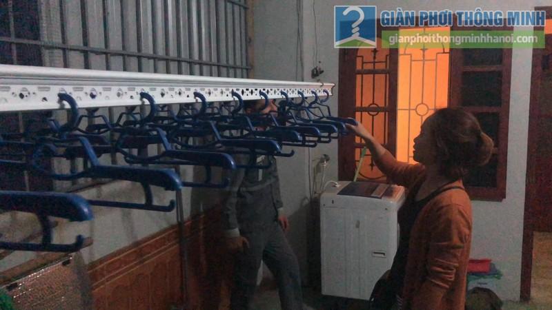 Lắp giàn phơi điện tự động nhà chị Hậu, Cầu giấy, Hà Nội - 09
