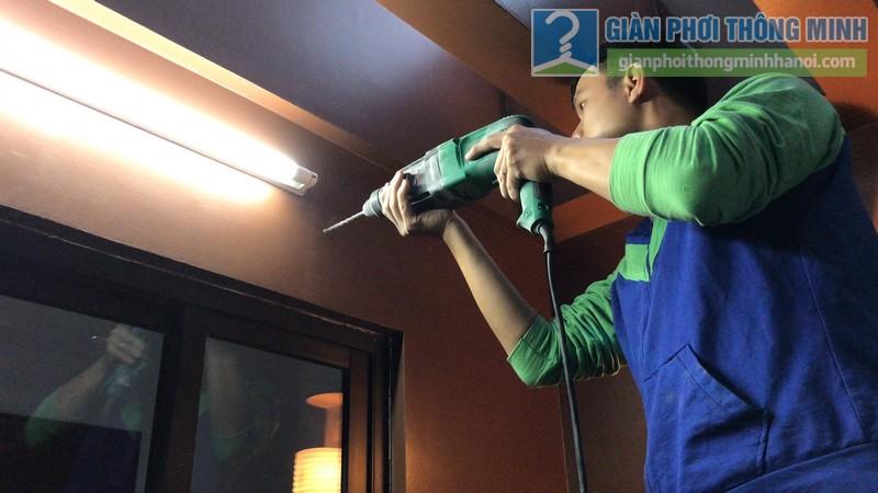 Lắp giàn phơi điện tự động tại Thanh Xuân nhà chị Luận, ngõ 6 Quan Nhân - 01