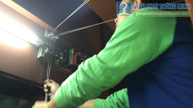 Lắp giàn phơi điện tự động tại Thanh Xuân nhà chị Luận, ngõ 6 Quan Nhân - 03