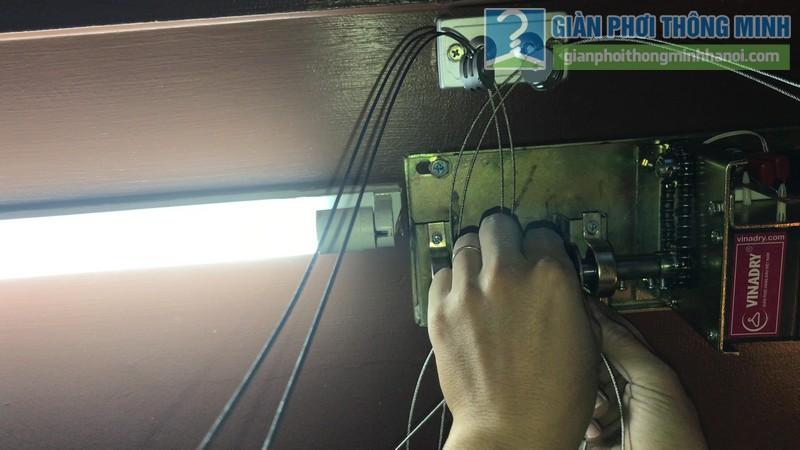Lắp giàn phơi điện tự động tại Thanh Xuân nhà chị Luận, ngõ 6 Quan Nhân - 04