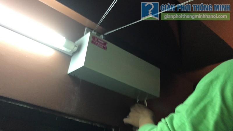 Lắp giàn phơi điện tự động tại Thanh Xuân nhà chị Luận, ngõ 6 Quan Nhân - 07