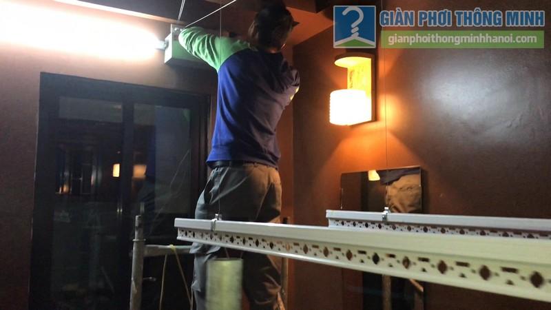 Lắp giàn phơi điện tự động tại Thanh Xuân nhà chị Luận, ngõ 6 Quan Nhân - 08