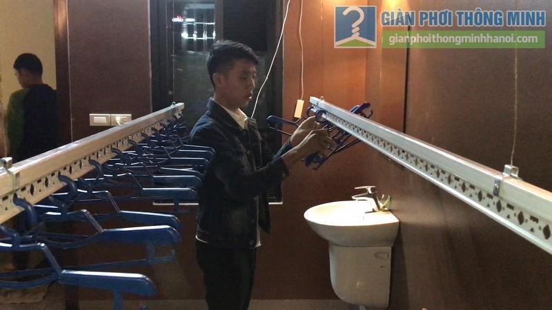 Lắp giàn phơi điện tự động tại Thanh Xuân nhà chị Luận, ngõ 6 Quan Nhân - 09