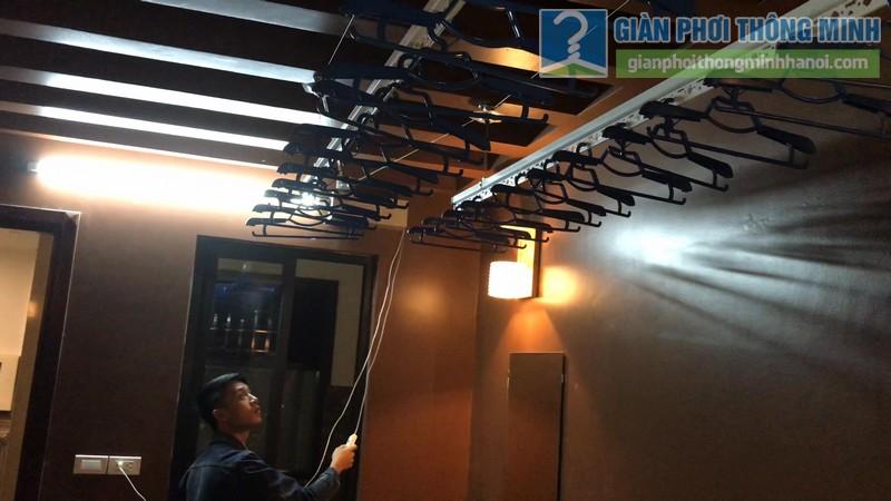 Lắp giàn phơi điện tự động tại Thanh Xuân nhà chị Luận, ngõ 6 Quan Nhân - 11